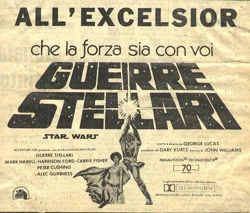 Risultati immagini per guerre stellari 1977 locandina