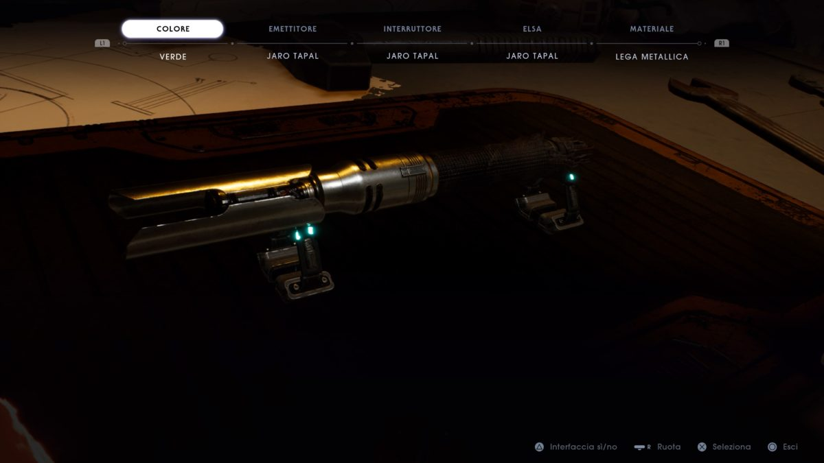 Customizzazione Spada Laser